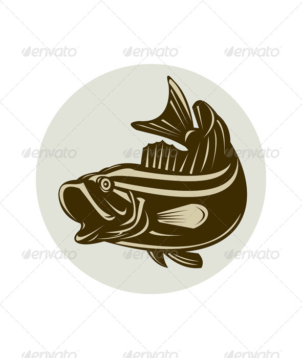 GraphicRiver Largemouth Bass Jumping 5191952