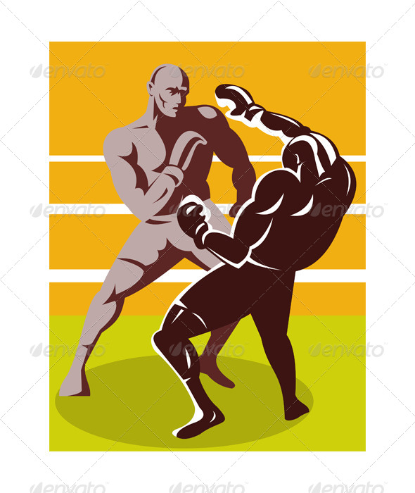 GraphicRiver Boxer Connecting Knockout Punch 5192037