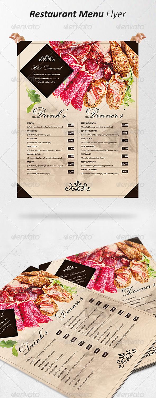 GraphicRiver Restaurant Menu Flyer 5192039