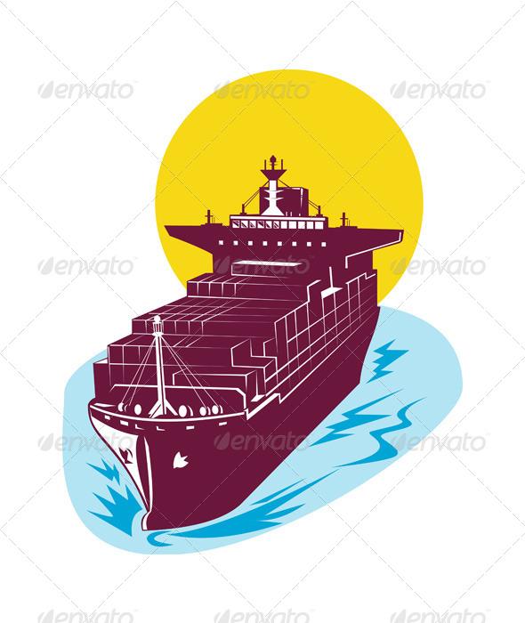 GraphicRiver Container Cargo Ship 5192107