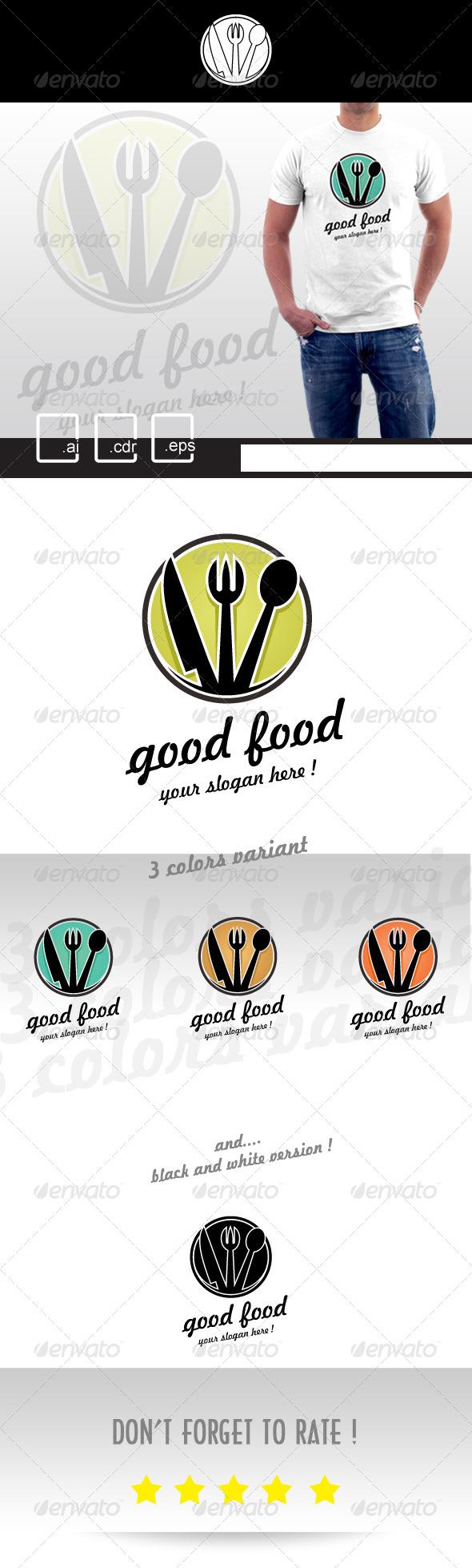 GraphicRiver Good Food Restaurant Logo 5192116