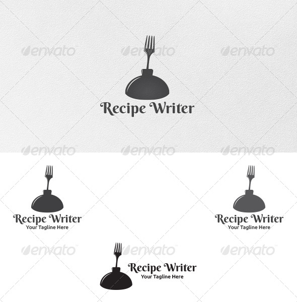 GraphicRiver Recipe Writer Logo Template 5192310