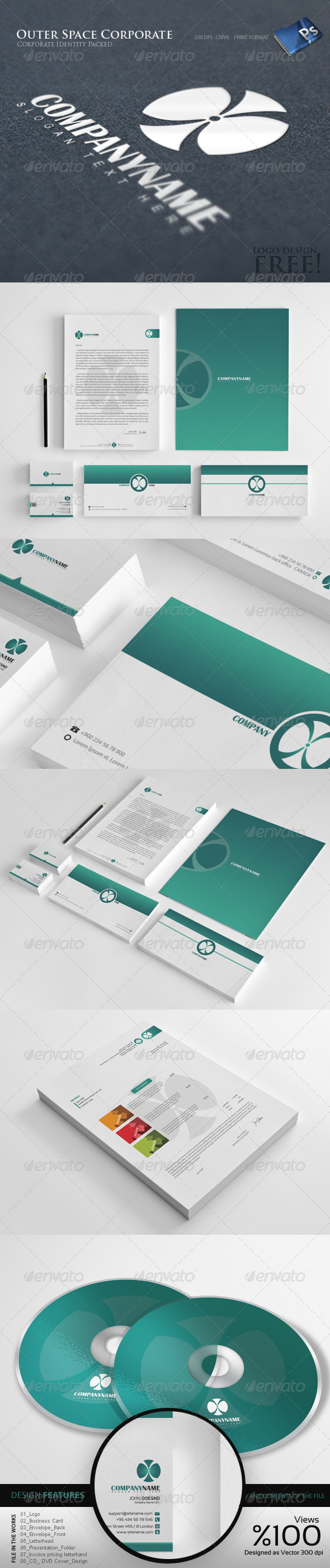 GraphicRiver Outer Space Corporate Identity 8 5193036