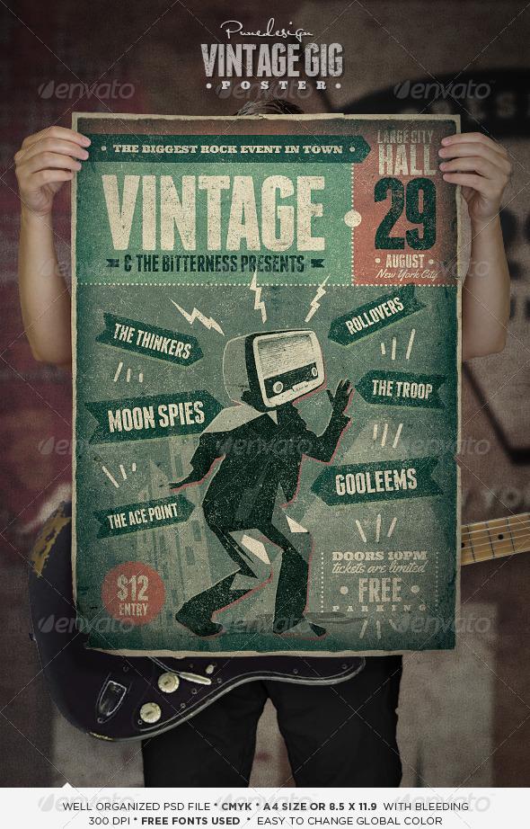 GraphicRiver Vintage GIG Poster 5193172