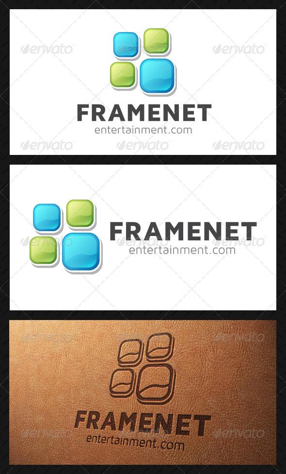 GraphicRiver Frame Squares Logo Template 5193393