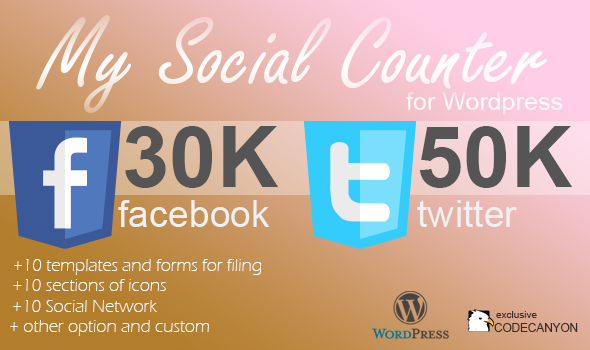CodeCanyon My Social Counter for Wordpress 5193674