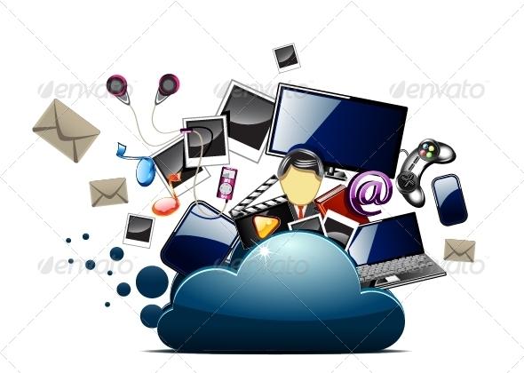 GraphicRiver Content Inside Cloud Folder 5193941