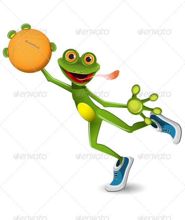 GraphicRiver Frog Basketball 5194034