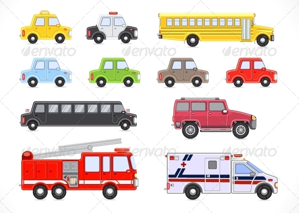 GraphicRiver Set of Transport 5194379