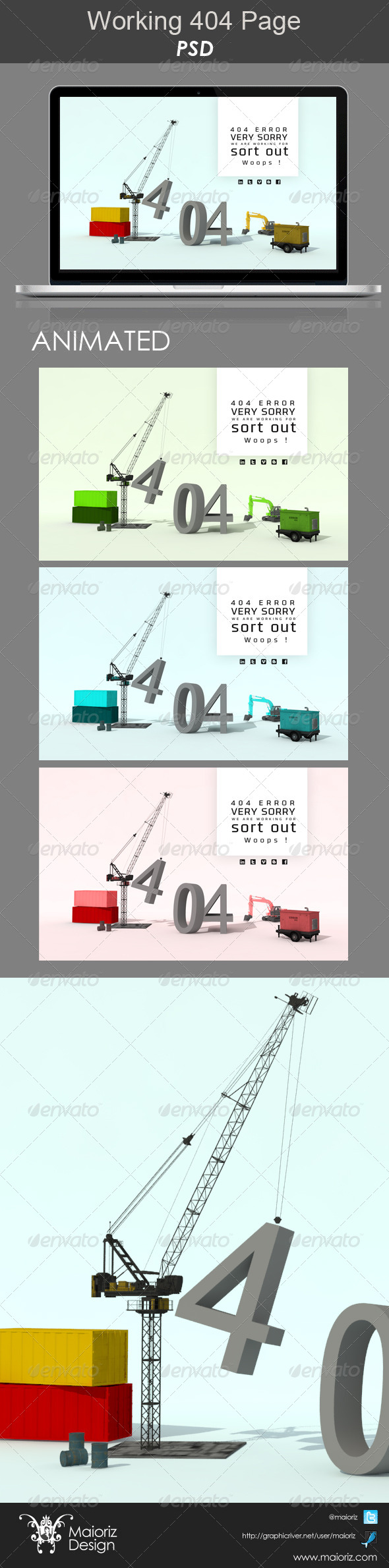 GraphicRiver Working 404 Page 5194466