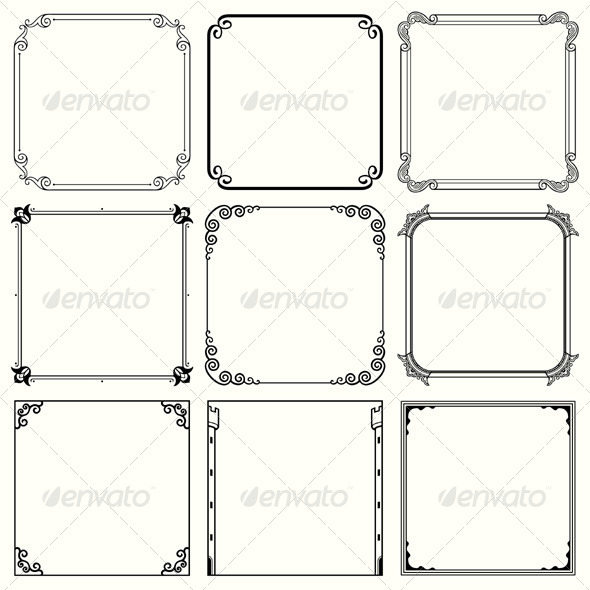 GraphicRiver Decorative Frames 5194467