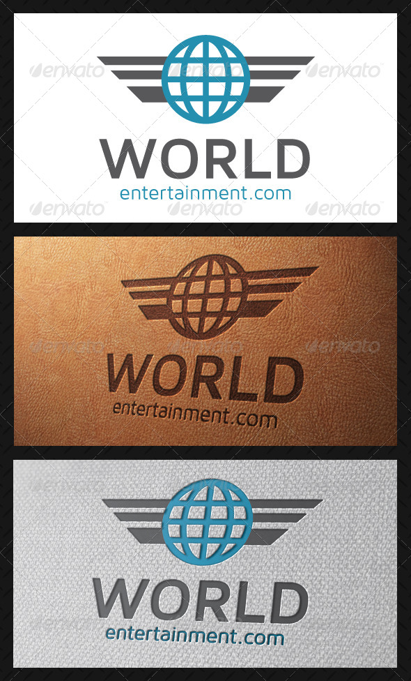 GraphicRiver World Wings Logo Template 5194468
