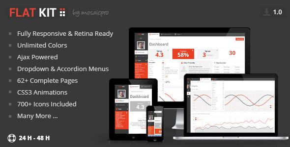 ThemeForest FLAT KIT Premium Web App Template 5194599