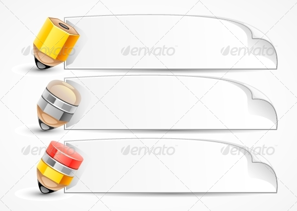 GraphicRiver Pencils with Papers 5194605