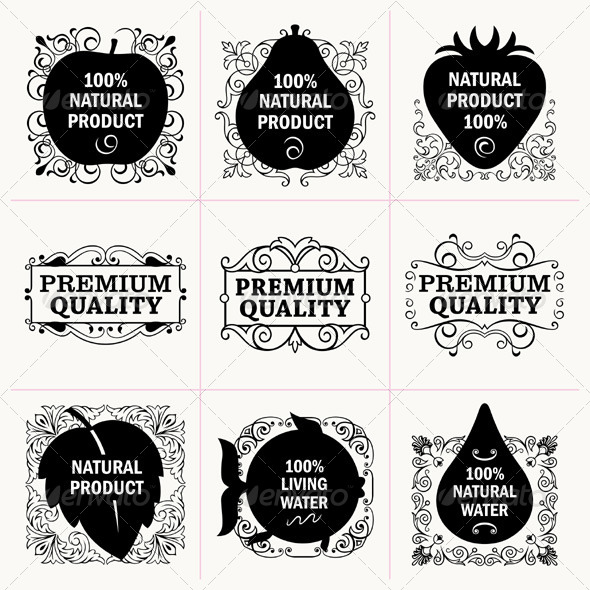 GraphicRiver Natural Production Tags 5194653