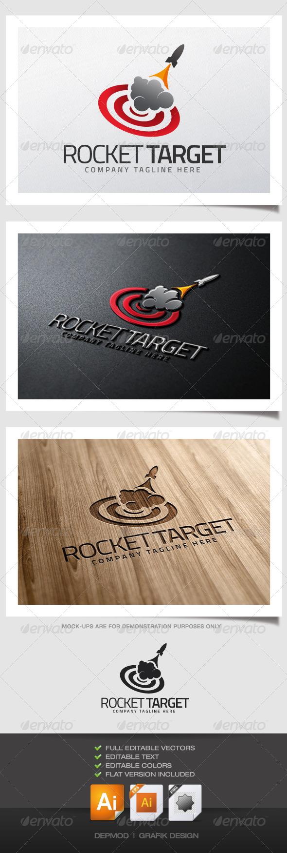 GraphicRiver Rocket Target Logo 5195203