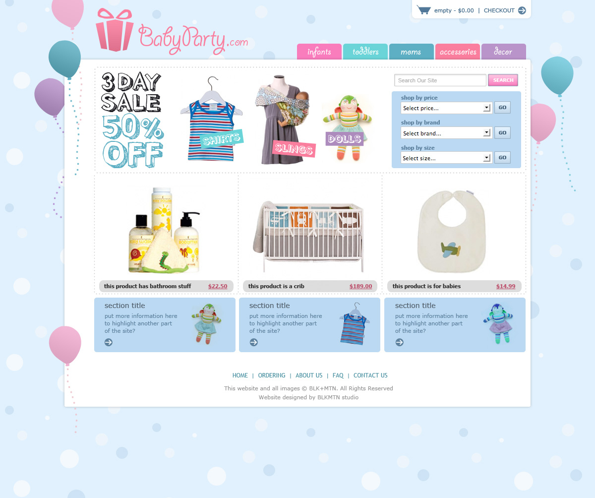 Baby Party - Home Page