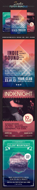 GraphicRiver Indie Flyer Bundle 5195719