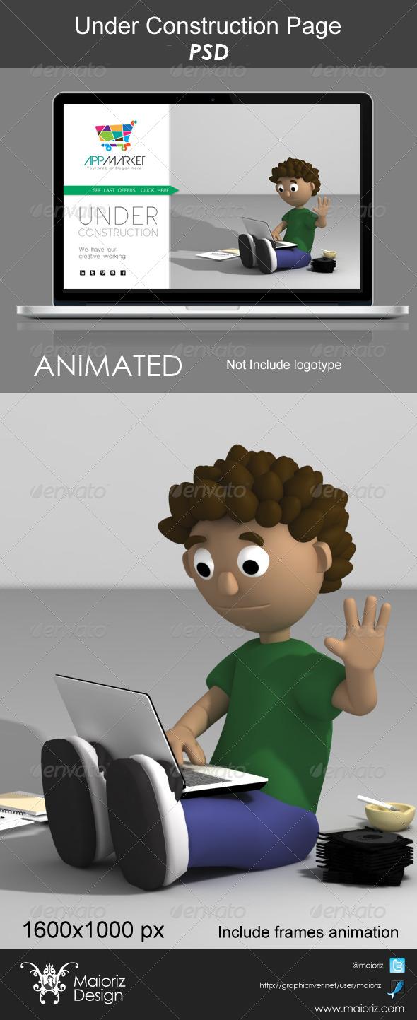 Under Contruction Page - 404 Pages Web Elements
