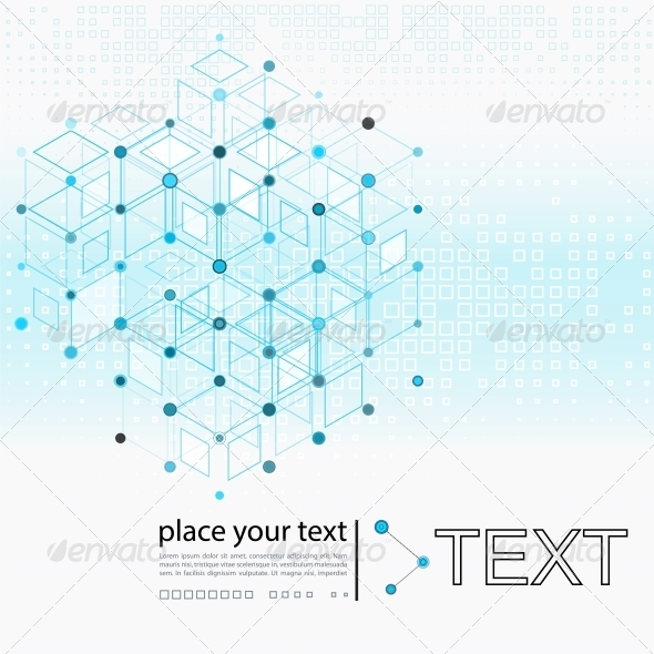 GraphicRiver Molecule and Communication Background 5196187