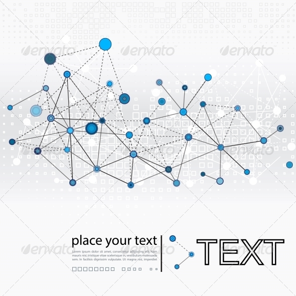 GraphicRiver Molecule and Communication Background 5196228