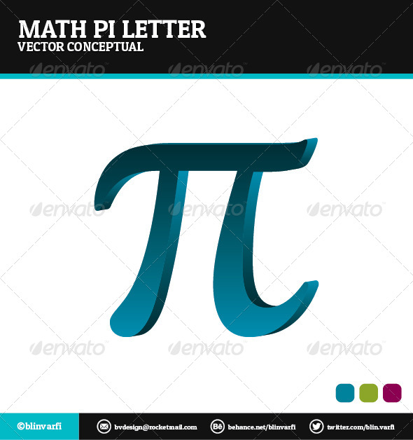 GraphicRiver Math Pi Letter 5196313