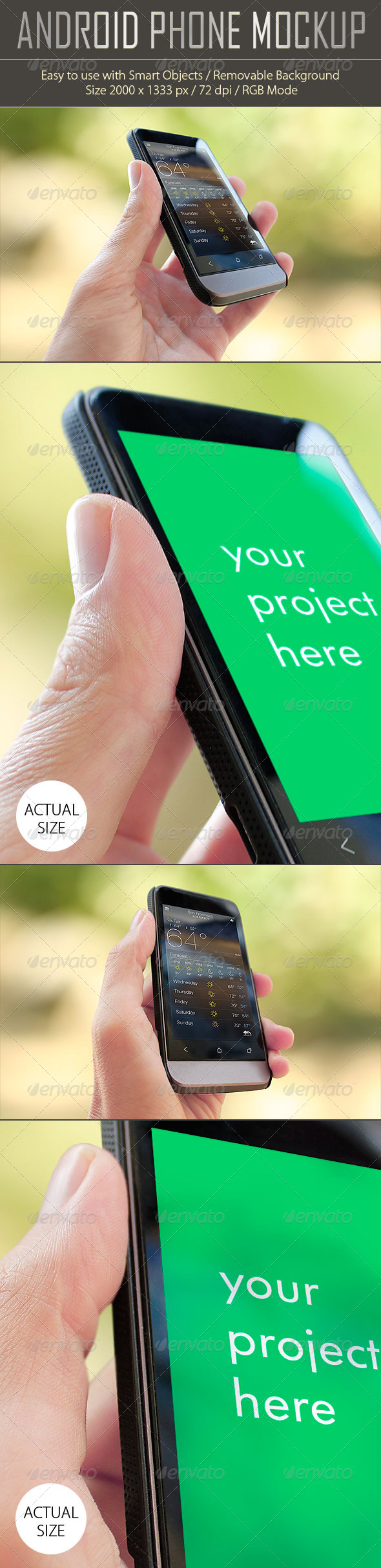 Android Phone Mockup - Product Mock-Ups Graphics