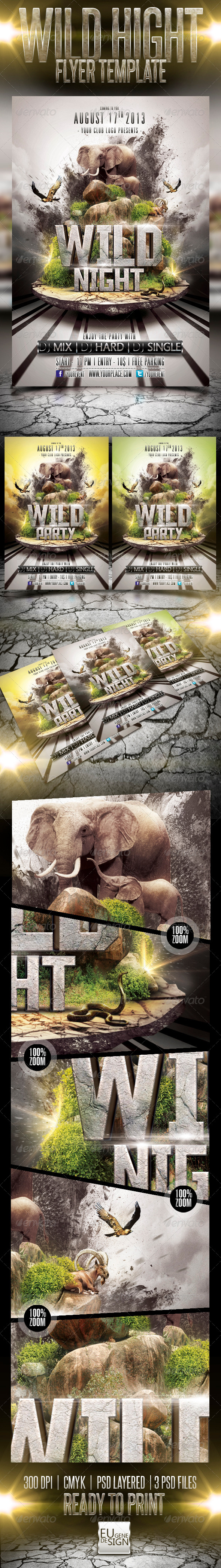 GraphicRiver Wild Night Flyer Template 5196689