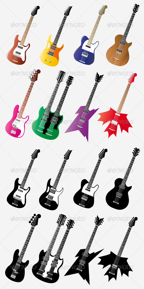 GraphicRiver Guitar Set 5196997
