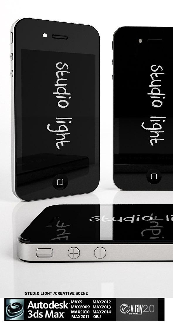 Iphone 4  Studio light - 3DOcean Item for Sale