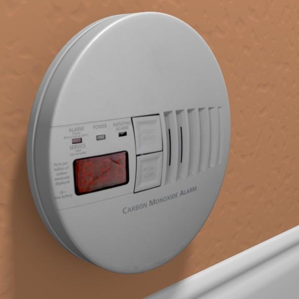 carbon monoxide alarm by see360 3docean. Black Bedroom Furniture Sets. Home Design Ideas