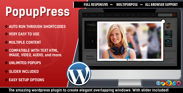 CodeCanyon PopupPress Easy & Elegant Popups for Wordpress 5197157