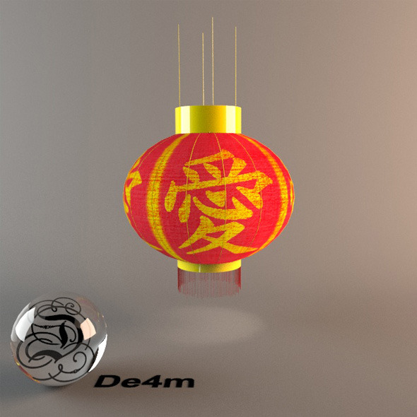 Chinese Paper Lantern - 3DOcean Item for Sale