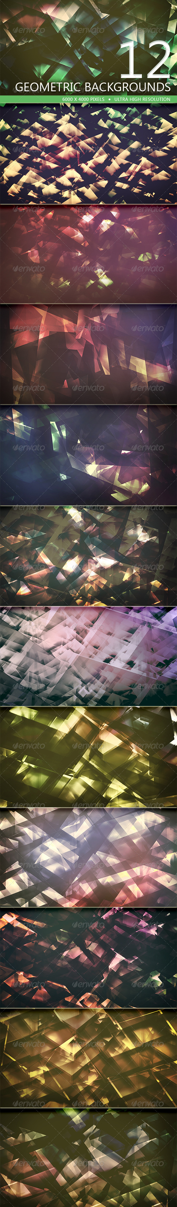 GraphicRiver Geometric Backgrounds Volume 2 5197411