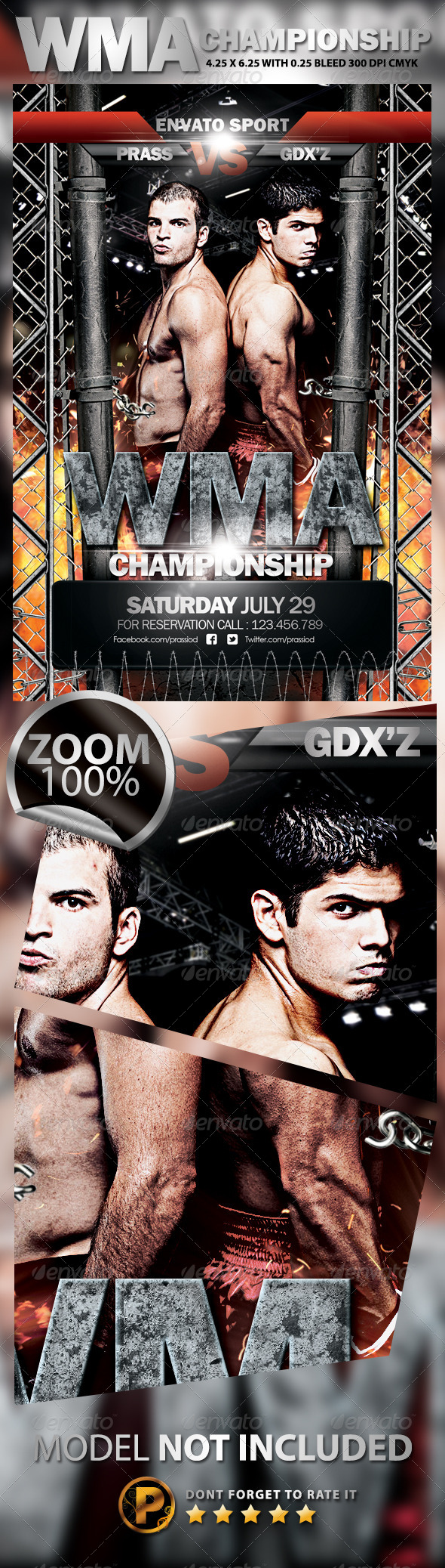 WMA Championship Flyer Template - Sports Events