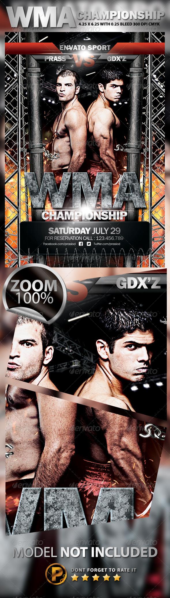 GraphicRiver WMA Championship Flyer Template 5197473