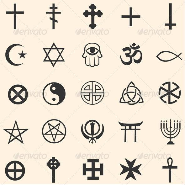GraphicRiver Vector Set of Religious Symbols 5160895