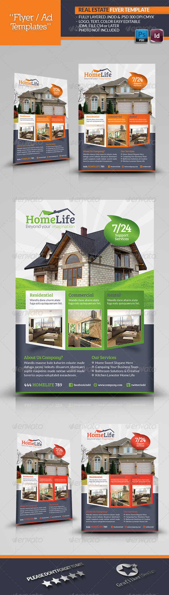 GraphicRiver Real Estate Flyer Template 5197968