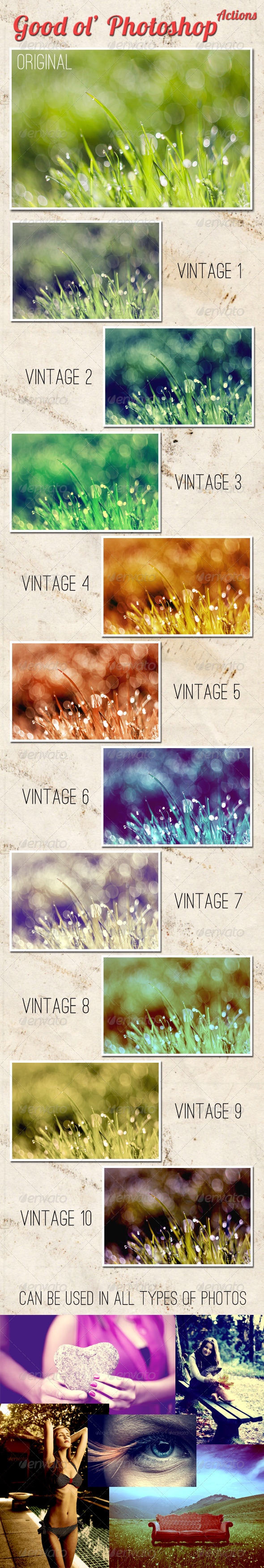 GraphicRiver Good ol Photoshop Actions 5198107