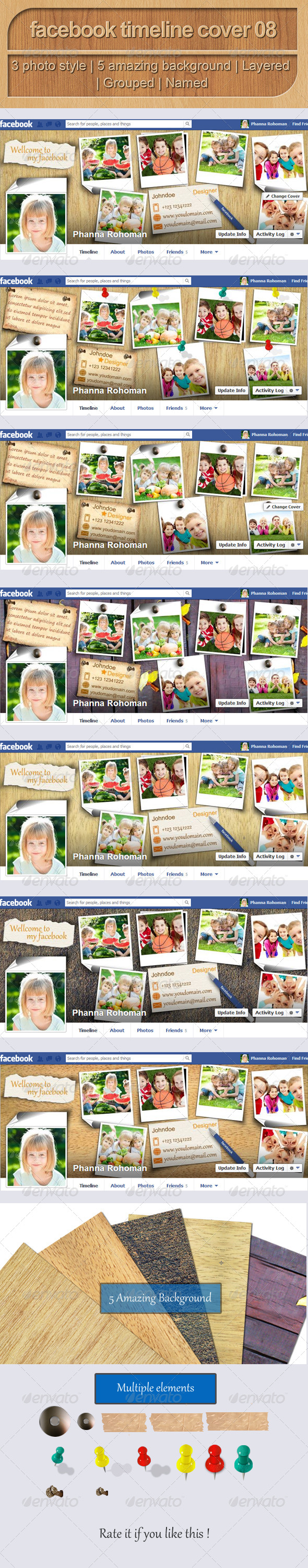 GraphicRiver Facebook Timeline Cover 08 5198442