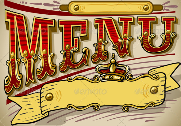 GraphicRiver Vintage Graphic Element for Western Menu 5198553