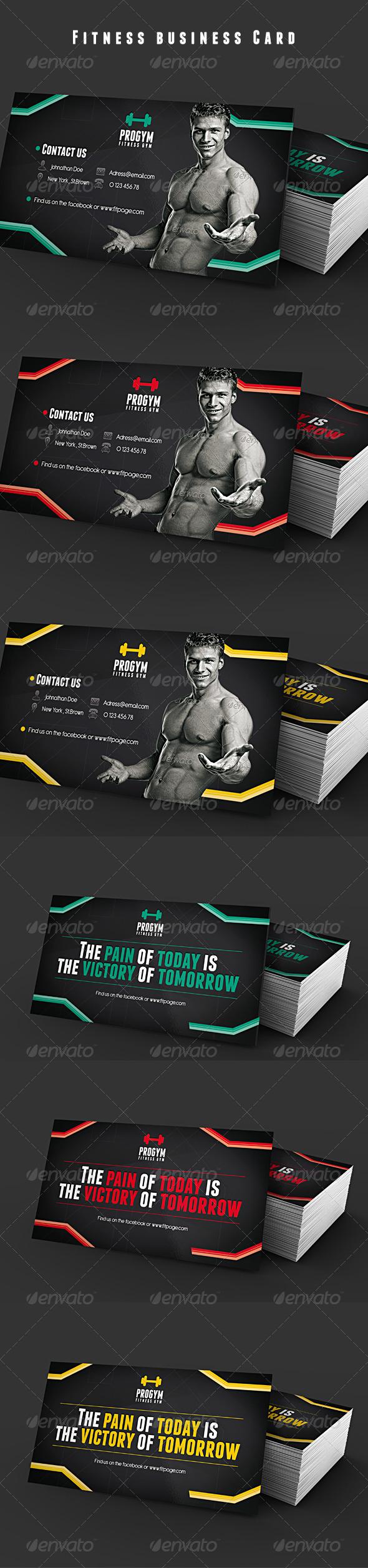 GraphicRiver Fitness Gym Business Card 5122145