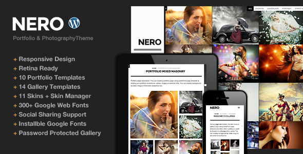 ThemeForest Nero Responsive Portfolio Photography Theme 5195747