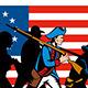 American Minuteman Militia Betsy Ross Flag