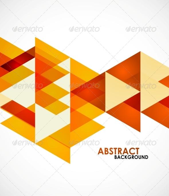GraphicRiver Orange Business Triangles 5198876