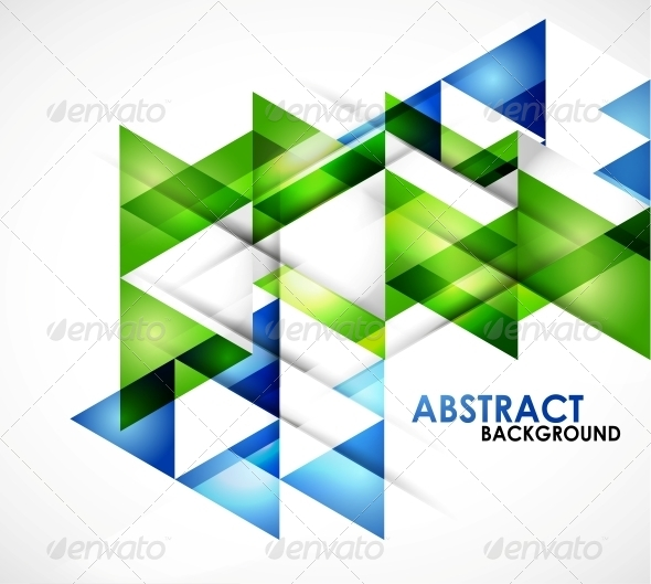 GraphicRiver Blue Business Triangles 5198880