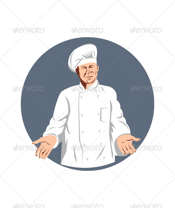 GraphicRiver Chef Holding Arms to Side 5198896