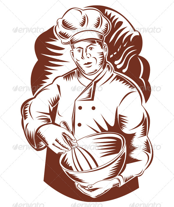 GraphicRiver Chef Holding Mixing Bowl 5198973