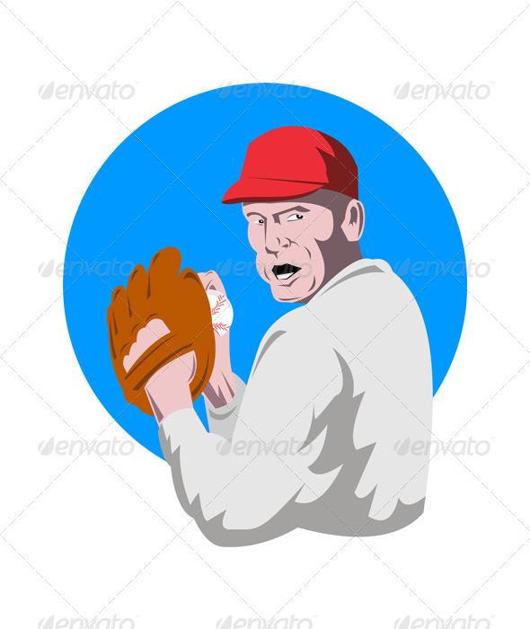GraphicRiver Baseball Player Pitcher 5199005