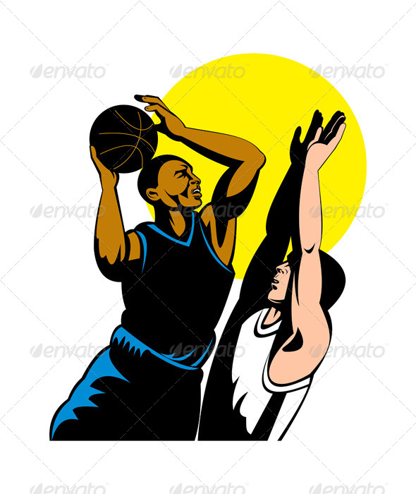 GraphicRiver Basketball Player Shooting Ball 5199018